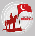 turkey republic day military character vector image vector image