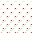 Two flags pattern cartoon style vector image vector image