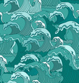 Waves of ocean seamless pattern vector image vector image