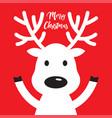 white christmas reindeer vector image