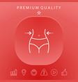 women waist weight loss diet waistline - line vector image vector image