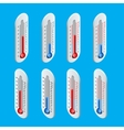 Outdoor Thermometer Hot and cold temperature vector image