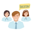 Avatars of teenage students in the form vector image
