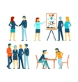 Business people in different poses vector image