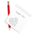abstract love note vector image vector image