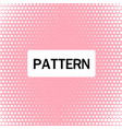 abstract white dots pattern pink background vector image vector image