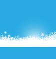 abstract white snowflakes and sparkling background vector image vector image