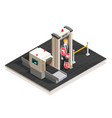 airport isometric vector image vector image