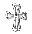 Ancient stone cross symbol vector image