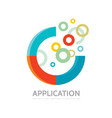 application - business logo concept vector image vector image