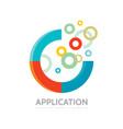 application - business logo concept vector image