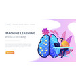 artificial intelligence concept landing vector image vector image