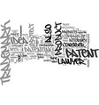 attorney trademark patent text word cloud concept vector image vector image