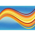 Blue and orange waves package background vector image