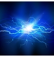 Blue Lightning Background vector image vector image