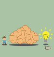 Brain labyrinth to idea and wealth vector image vector image