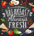 breakfast poster vector image vector image