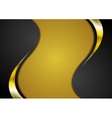 Bright corporate golden and black wavy background vector image vector image