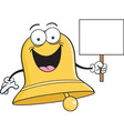 Cartoon Bell Holding a Sign vector image vector image