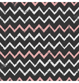 Chalkboard style seamless chevron pattern vector image vector image