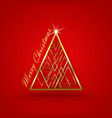 christmas red background tre vector image