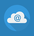 Cloud Computing Flat Icon At Sign vector image