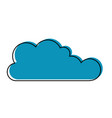 cloud icon flat in watercolor silhouette vector image vector image
