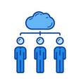 cloud network line icon vector image vector image