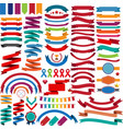Collection of retro ribbons and labels vector image