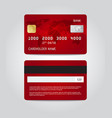 credit card template design two sides vector image vector image