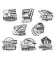 cuba icons havana travel culture and food vector image vector image