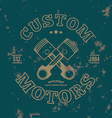 Custom motors T-shirt graphics vector image