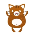 Cute furry cat sitting alone home animal vector image vector image