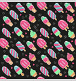 cute summer hand drawn seamless pattern with ice vector image vector image