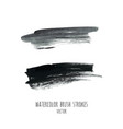 dark black grunge watercolor ink texture set vector image vector image