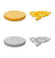 design of burger and sandwich icon set of vector image vector image