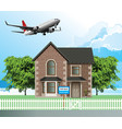 detached residential house for sale vector image vector image