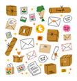 everything is packed and delivered on time mail vector image