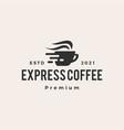 express fast quick coffee cafe hipster vintage vector image vector image
