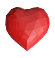 geometrical polygonal heart vector image