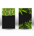 Green Bamboo Cards on Gray vector image vector image