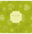 green clover textile texture frame seamless vector image vector image