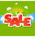 Green Torn Paper Borders And Sale Poster vector image vector image