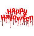 Happy Halloween sign blood vector image vector image