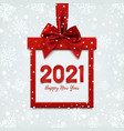 happy new year 2021 design square banner in form vector image vector image