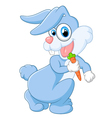 Happy rabbit holding carrot vector image vector image