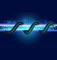 high speed digital fiber optic technology vector image