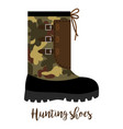 hunting shoes icon with text vector image vector image