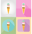 ice cream flat icons 05 vector image vector image