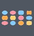 label ornamental color frames set for text vector image vector image